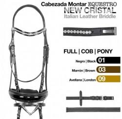 21019234 Itallian Crystal dressage bridle.